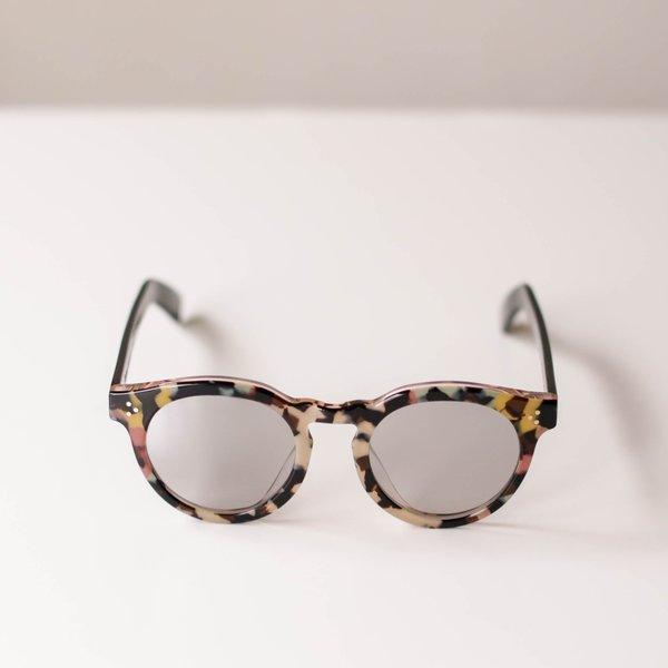 Illesteva Leonard II E Sunglasses - Rainbow Tortoise/Black
