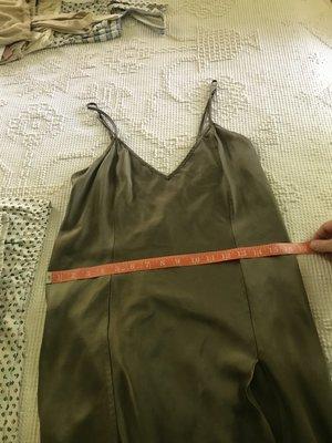 Vintage silk slip - olive