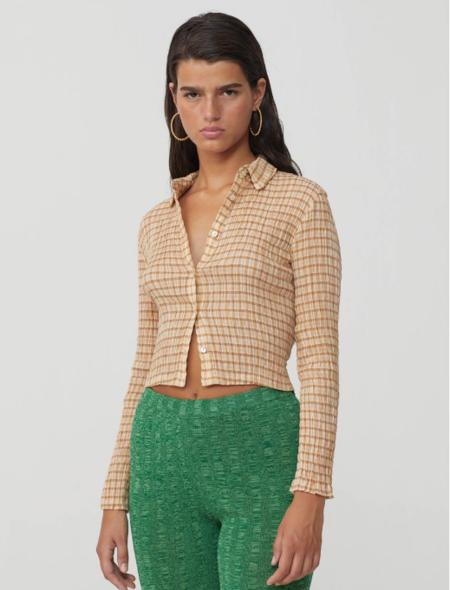 Paloma Wool Bisbal Button Top - Checkered