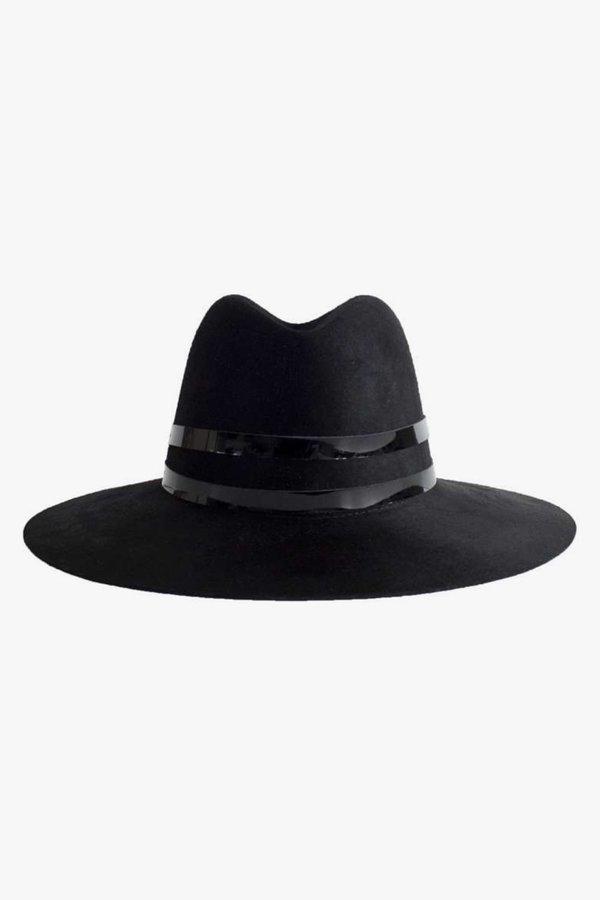 Janessa Leone Logan Wool Hat - Black