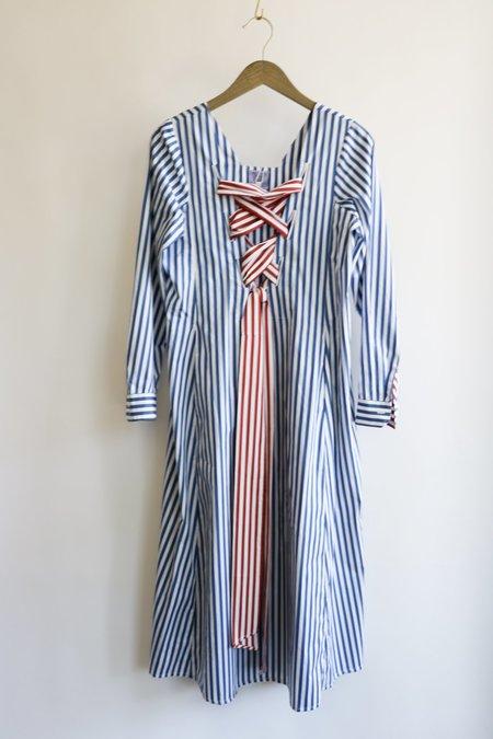 Thierry Colson Striped Dress - Blue/White