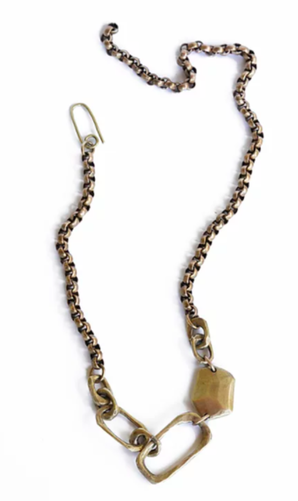 Watersandstone Big Links Necklace - Brass