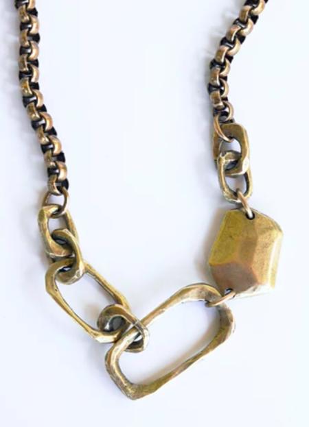 Watersandstone Big Links Necklace - Brass