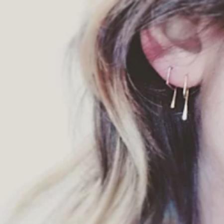 Watersandstone Tiny Tears Earrings - Gold