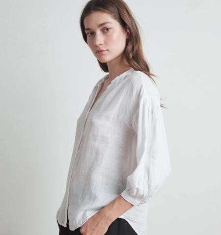 Velvet by Graham and Spencer matea woven linen button up blouse