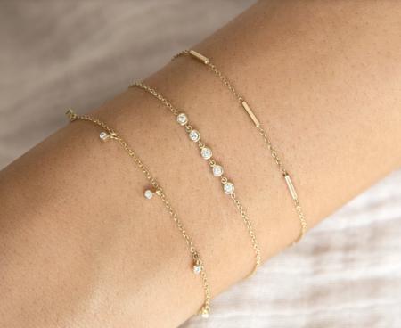 Zoe Chicco 14k Horizontal Tiny Bars Bracelet