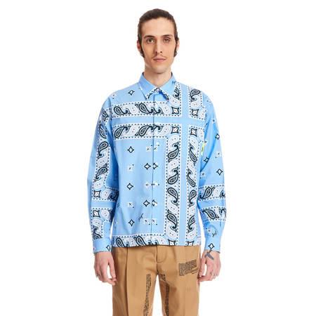 MSGM Bandana Shirt - Blue
