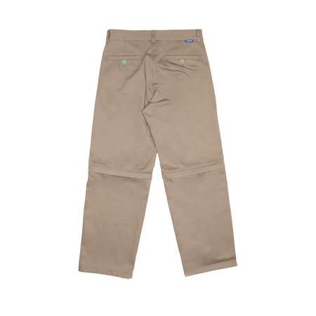 RASSVET (PACCBET) Zip off chinos pants - BROWN