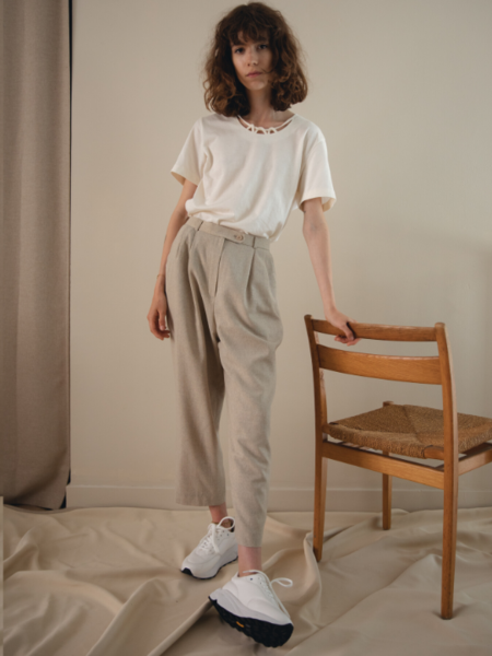 Vintage Trousers - Warm Grey