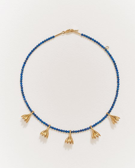 Pamela Love Anemone Lapis Necklace