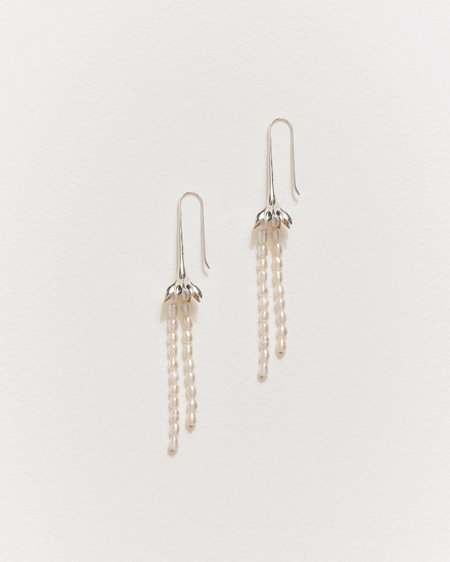 Pamela Love Anemone Pearl Earrings - sterling silver