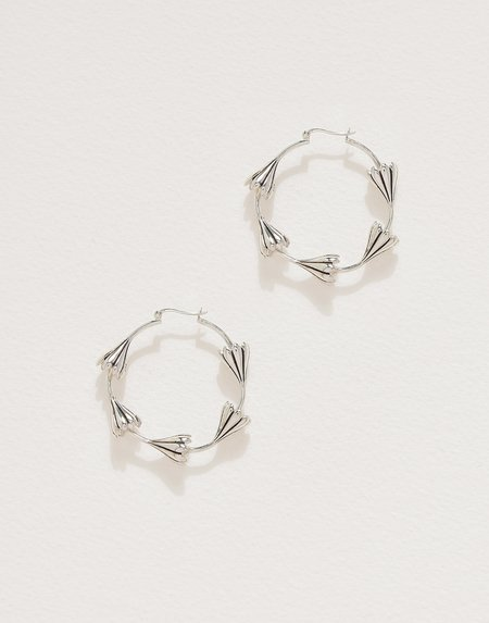 Pamela Love Multi Anemone Hoops - Sterling Silver