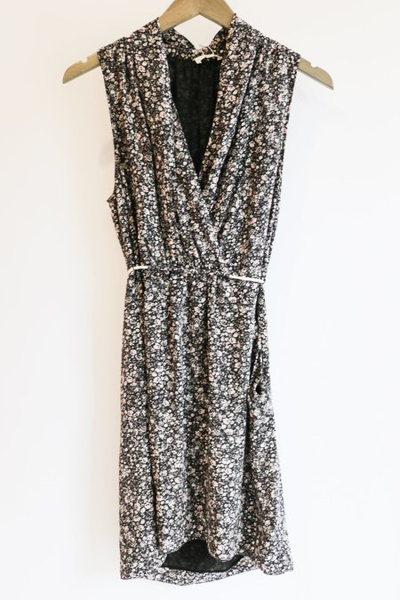 [Pre-loved] Wilfred Mini Dress - Black Floral