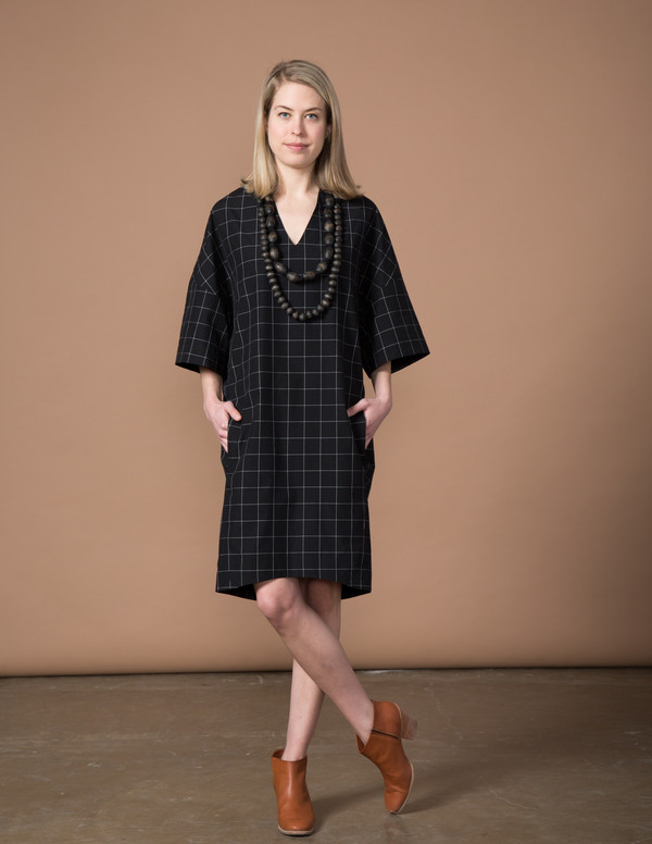 SBJ Austin Sadie Dress - Black Window Pane