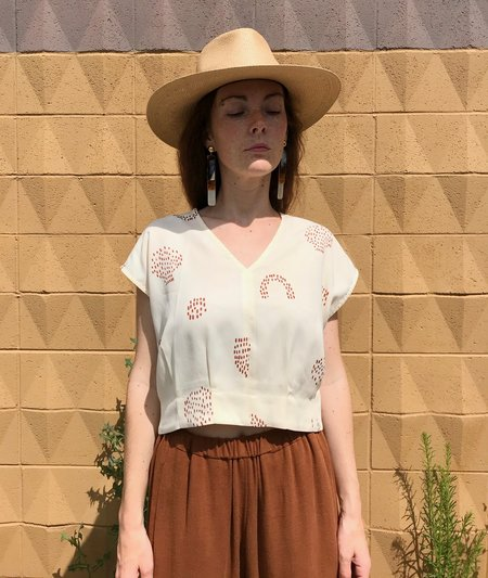 Eve Gravel Meadow Top - Vanilla Picnic