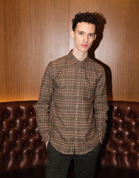 Portuguese Flannel Twill Long Sleeve Shirt - Plaid