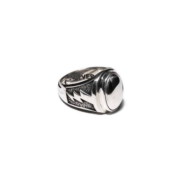 MAPLE Lightning Signet Ring - Silver