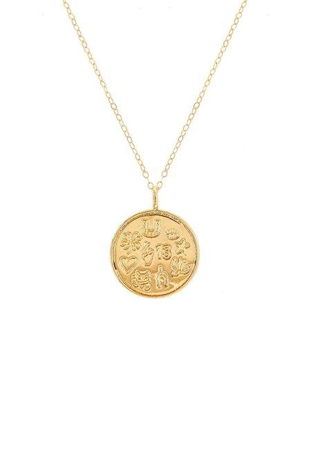 Mod + Jo Lucky Talisman Pendant Necklace - Gold