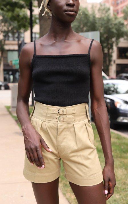 Vintage Buckle Shorts - Green