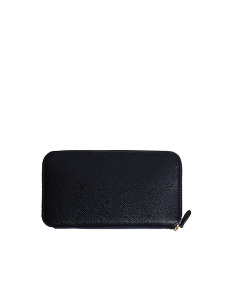 Balenciaga Leather logo Wallet - Black