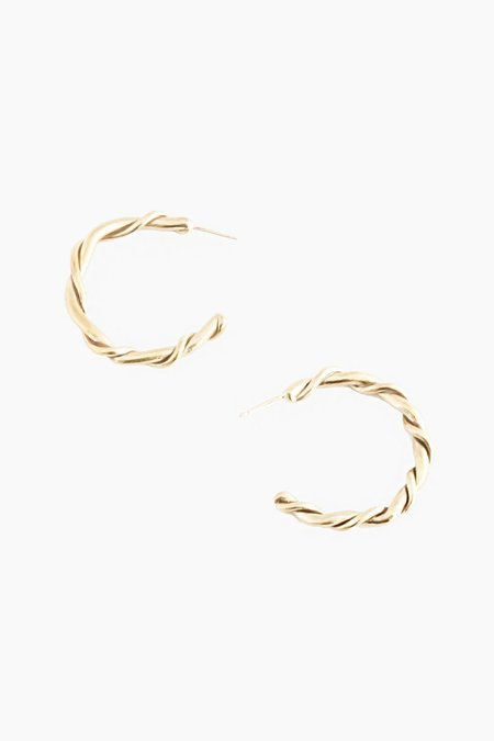 Another Feather Rope Hoops - Bronze
