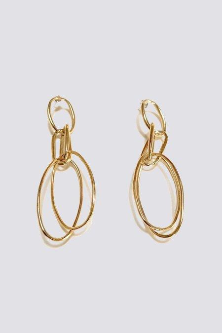 Samma Ona Earrings - Brass