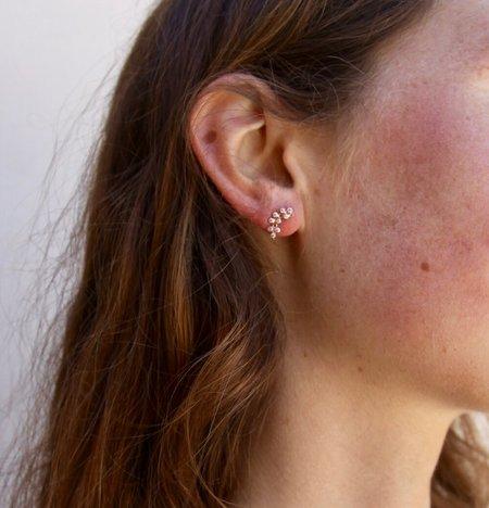Marie Laure Chamorel crystal earrings - Pink Gold