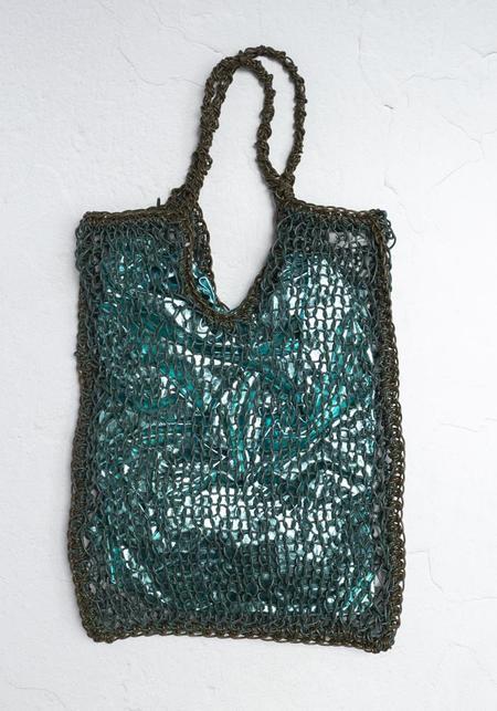 Maria La Rosa Knit Leather Sac Bag - Green/Olive