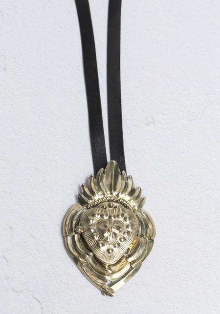 Tita Lopez Winged Sacred Heart Locket Necklace