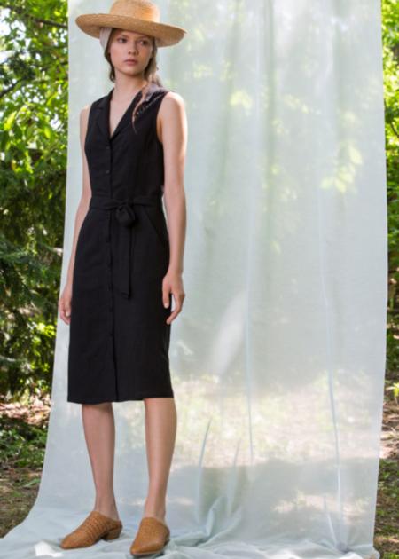 Eve Gravel Sienne dress - Black