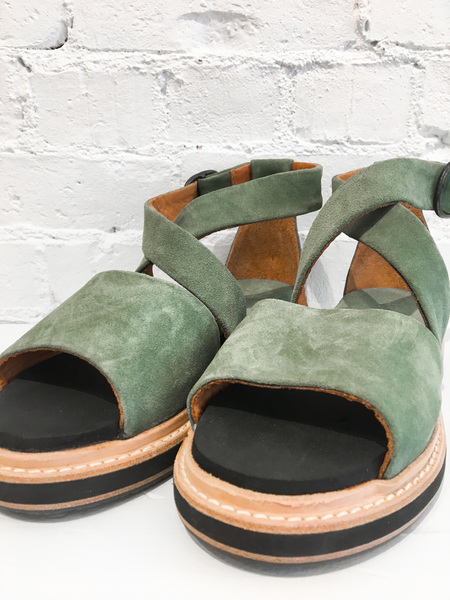 P. Monjo Softy Militaire Sandals - Sage