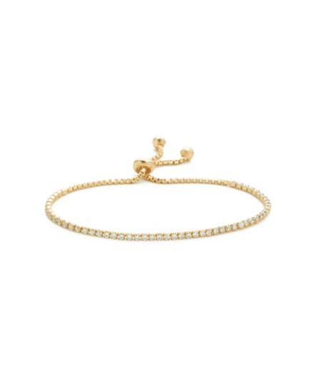 Shashi Diamond Tennis Bracelet - Gold