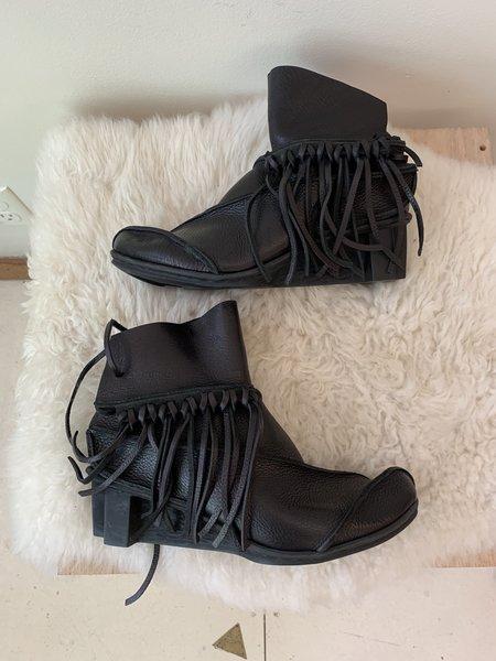 [pre-loved] Trippen Fringe Booties - Black