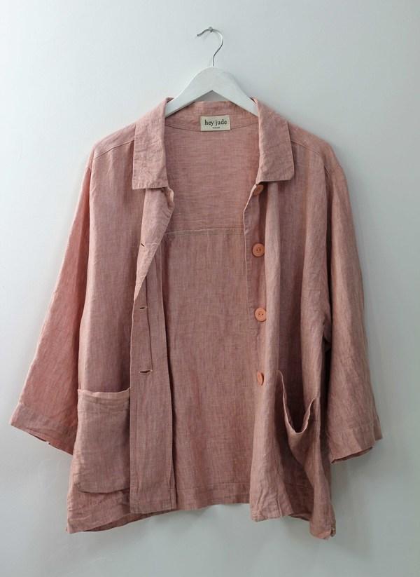 Hey Jude Vintage Dusty Rose Service Jacket