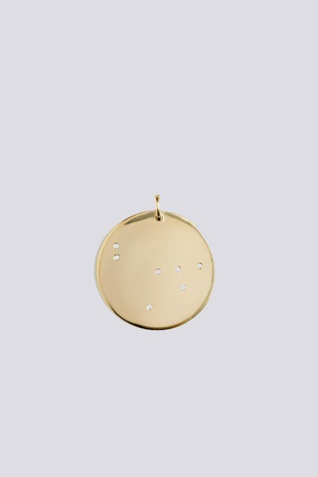 Trine Tuxen Mini Capricorn Pendant - Gold