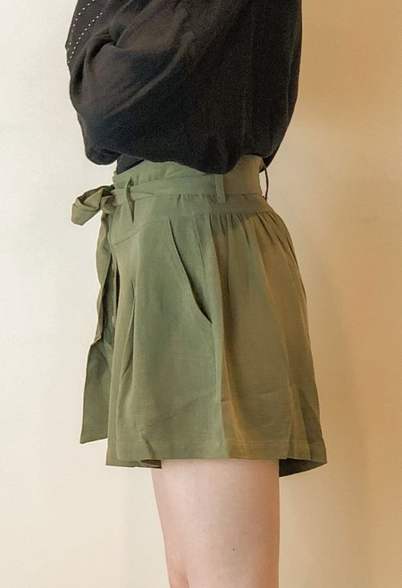 Together Tie Short - ARMY GREEN