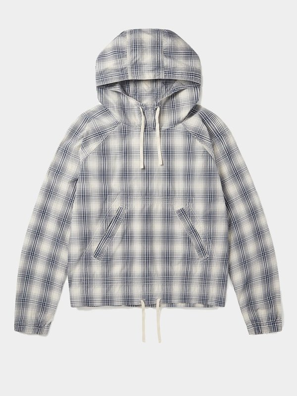 Albam Over Dye Check Hoody - Ecru