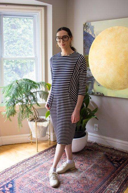 Valérie Dumaine Indiana Dress - Navy/Ivory Stripes