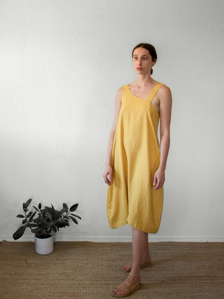 Sugar Candy Mountain The Courtney Dress - Mustard