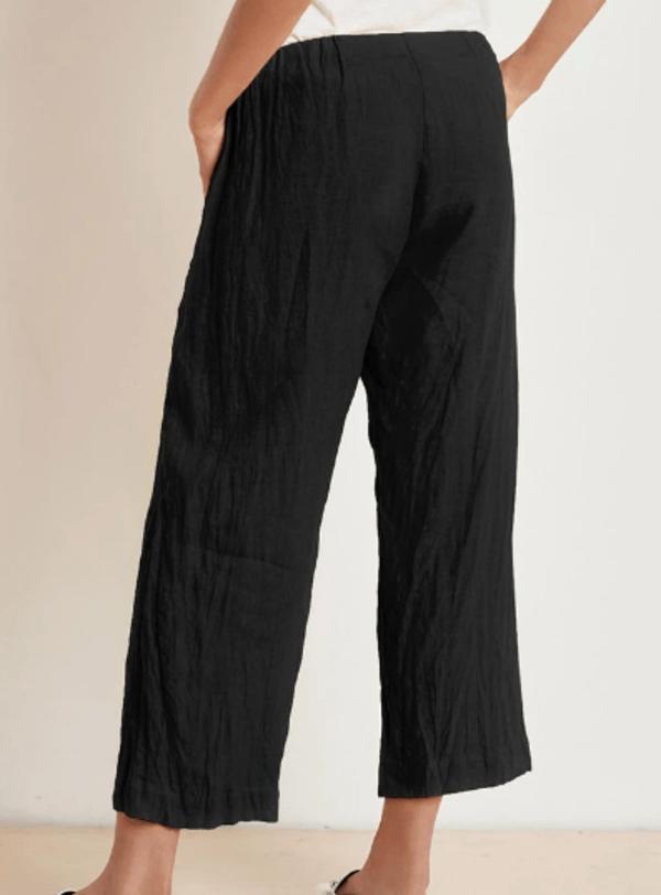 Velvet Lola Woven Linen Pant - Shadow