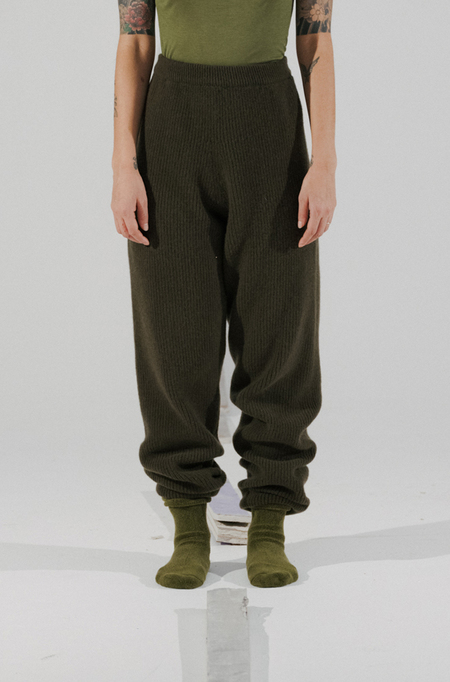 Baserange Dodd Merinos Wool Pants - Maple Green