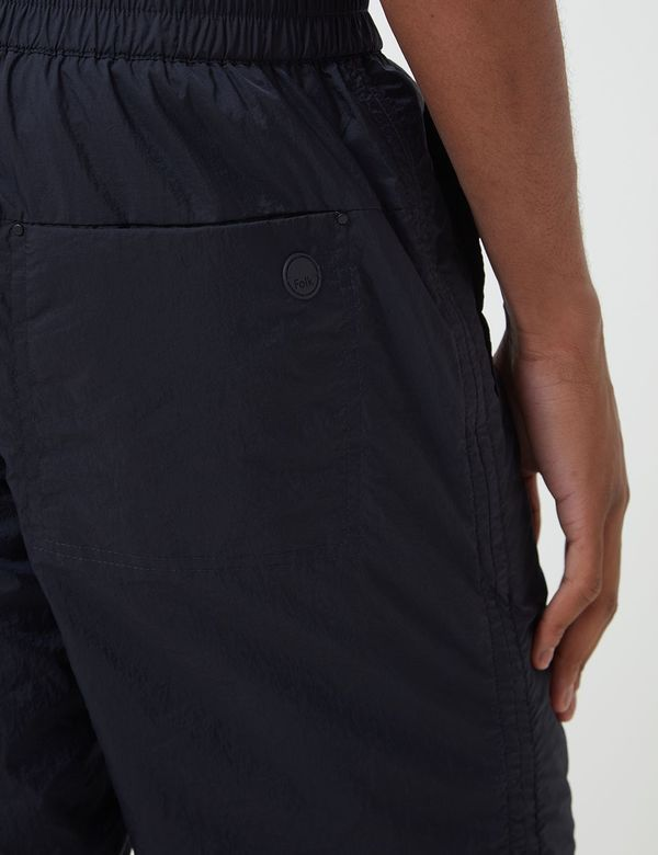 Folk Clothing Nylon Shorts - Navy Blue