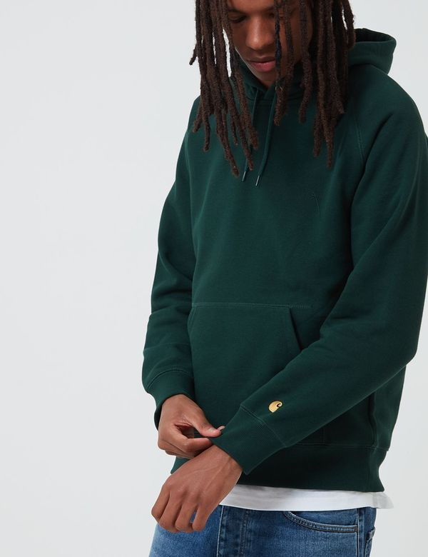 CARHARTT WIP Chase Hooded Sweatshirt - Bottle Green