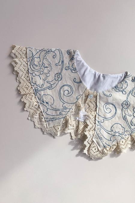 WOLF & GYPSY VINTAGE Handmade Embroidered Cotton Collar