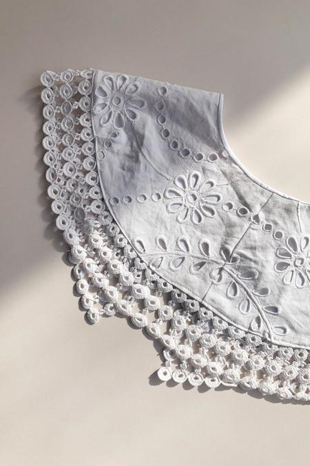 WOLF & GYPSY VINTAGE Handmade Lace Trim Cotton Collar