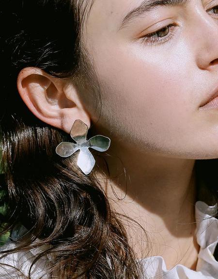 Cled Petal Earrings - Sterling Silver