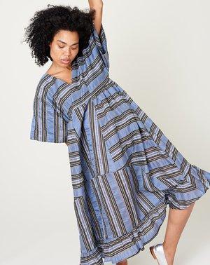 Henrik Vibskov Prawn Dress - Multistripe