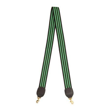 Clare V. Crossbody Strap - Green/Black Stripe