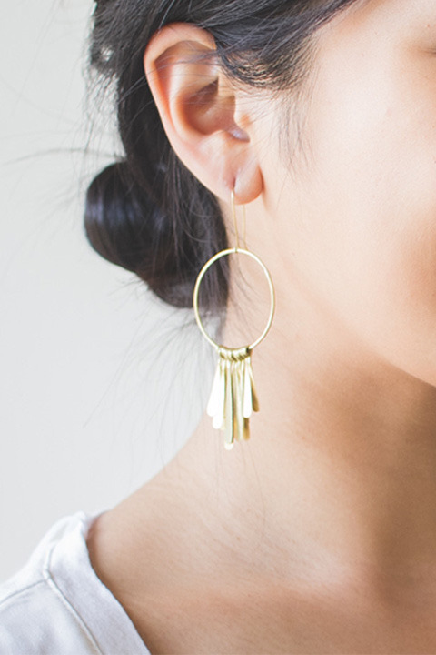SOKO Brass fringe earrings