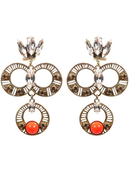 Anton Heunis Triple Ring earrings